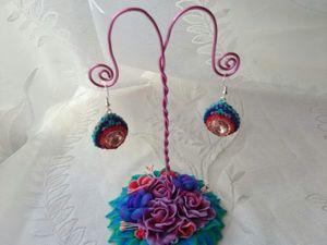 Видео мастер-класс: мастерим из полимерной глины цветочную подставку для украшений. Ярмарка Мастеров - ручная работа, handmade.