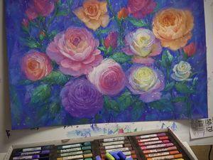 Картина  «Ночной Розарий». Ярмарка Мастеров - ручная работа, handmade.