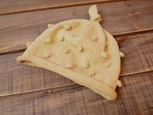 Как связать детскую шапочку с узелком на макушке. Ярмарка Мастеров - ручная работа, handmade.
