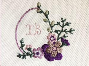 Пасхальная вышивка. Вышиваем цветы. Ярмарка Мастеров - ручная работа, handmade.