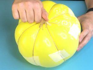 Делаем тыкву из воздушного шарика!. Ярмарка Мастеров - ручная работа, handmade.