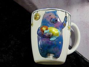Делаем простейший декор посуды. Мишка из полимерной глины. Ярмарка Мастеров - ручная работа, handmade.