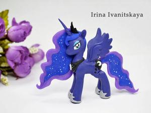 Видео мастер-класс: лепим принцессу Луну из мультфильма «Мои маленькие пони». Ярмарка Мастеров - ручная работа, handmade.