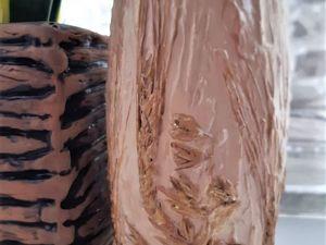 Переделка китайской вазы в технике «Терра». Ярмарка Мастеров - ручная работа, handmade.