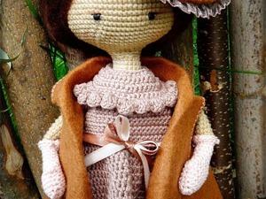 Вяжем куколку в винтажной шляпке в технике амигуруми. Ярмарка Мастеров - ручная работа, handmade.