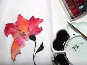 Создаем картину на рисовой бумаге: видеоурок. Ярмарка Мастеров - ручная работа, handmade.