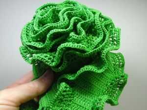 Как связать крючком шарфик из хлопковых ниток. Ярмарка Мастеров - ручная работа, handmade.