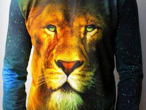Шьем мужской свитшот со львом. Ярмарка Мастеров - ручная работа, handmade.