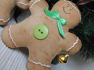 Новогодний пряничный человечек:). Ярмарка Мастеров - ручная работа, handmade.