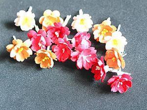 Делаем цветки вишни из бумаги для пастели. Ярмарка Мастеров - ручная работа, handmade.