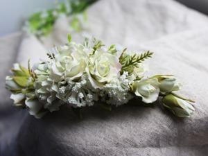 Создаем свадебный гребень с розами. Ярмарка Мастеров - ручная работа, handmade.