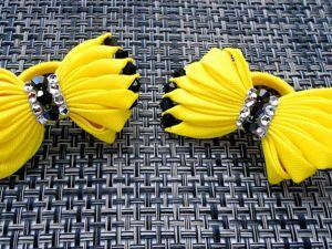 Видео мастер-класс Канзаши: летние бантики для волос из лент. Ярмарка Мастеров - ручная работа, handmade.