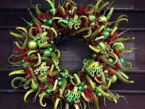 Идеи для создания необычных рождественских веночков. Ярмарка Мастеров - ручная работа, handmade.