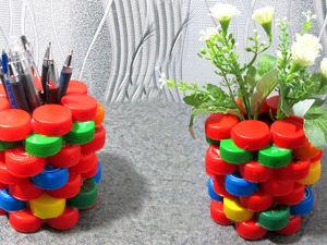Идея из пластиковых крышек: видео мастер-класс. Ярмарка Мастеров - ручная работа, handmade.
