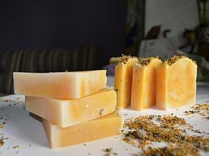 Мастер-класс: мыло «Солнечная календула» с нуля холодным способом. Ярмарка Мастеров - ручная работа, handmade.