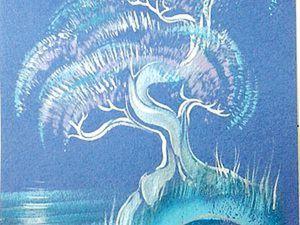 Как нарисовать быстрый пейзаж в японском стиле в технике двойного мазка. Ярмарка Мастеров - ручная работа, handmade.