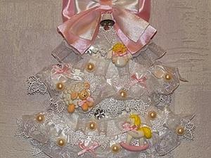 """Новогодняя ёлочка на стену """"Кружевная нежность"""". Ярмарка Мастеров - ручная работа, handmade."""