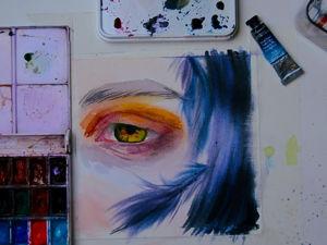 Рисуем глаз акварелью. Ярмарка Мастеров - ручная работа, handmade.