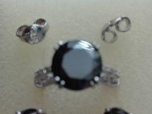 Видео Кольцо и серьги черные муассаниты серебро. Ярмарка Мастеров - ручная работа, handmade.