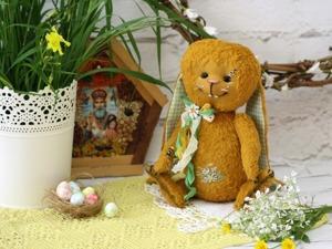 Пасхальный кролик в технике Тедди. Ярмарка Мастеров - ручная работа, handmade.