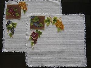 Декупаж на ткани: салфетки «Виноградный рай». Ярмарка Мастеров - ручная работа, handmade.