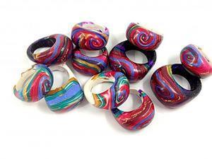 Как сделать яркое цельное кольцо из полимерной глины. Ярмарка Мастеров - ручная работа, handmade.