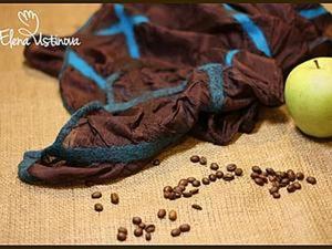 Создаем красивый палантин из шелка и префельта в технике мокрого валяния. Ярмарка Мастеров - ручная работа, handmade.