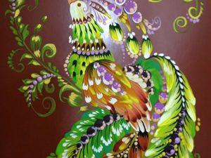 Рисуем птицу переходными мазками беличьей кистью. Ярмарка Мастеров - ручная работа, handmade.