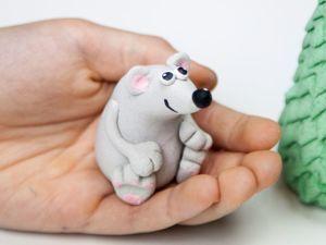 Лепим Крысенка из соленого теста. Ярмарка Мастеров - ручная работа, handmade.