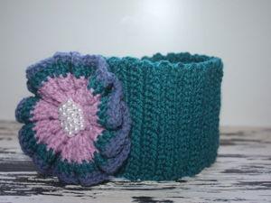 Готовимся к весне: вяжем симпатичную повязку для девочки. Ярмарка Мастеров - ручная работа, handmade.