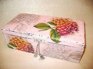 Роскошная гортензия: декорируем шкатулку в стиле шебби шик. Ярмарка Мастеров - ручная работа, handmade.