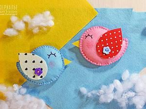 How to Make Spring Birds of Felt. Livemaster - handmade