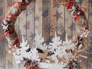 Делаем новогодний венок. Ярмарка Мастеров - ручная работа, handmade.