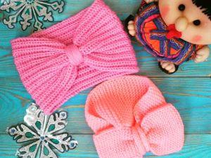 Комплект повязок  «Мама-дочка». Ярмарка Мастеров - ручная работа, handmade.