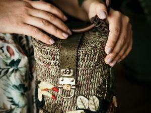 Коллекция сумочек из рафии с вышивкой. Ярмарка Мастеров - ручная работа, handmade.
