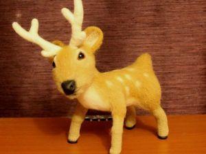 Создаем новогоднего оленя из шерсти своими руками. Ярмарка Мастеров - ручная работа, handmade.