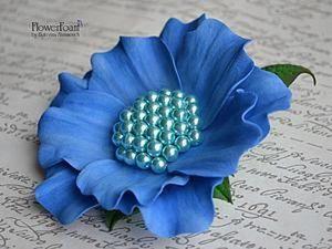DIY: A Fancy Flower Brooch from Foam. Livemaster - handmade