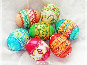 """Мастер-класс """"Роспись яиц к Пасхе"""". Ярмарка Мастеров - ручная работа, handmade."""