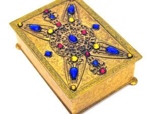 1920-1940гг Старинная Шкатулочка APOLLO для украшений инкрустация кристаллами Стиль арт нуво, арт деко. Ярмарка Мастеров - ручная работа, handmade.