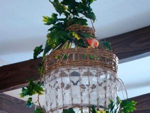 Плетеный светильник из бумаги в стиле прованс. Ярмарка Мастеров - ручная работа, handmade.