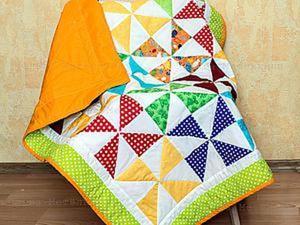 Шьем детское лоскутное одеяло для начинающих. Часть 1. Создание блока. Ярмарка Мастеров - ручная работа, handmade.