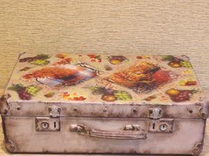 Превращение старого чемоданчика. Ярмарка Мастеров - ручная работа, handmade.