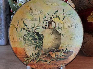 Декорируем тарелочку: одношаговый кракле и патинирование. Ярмарка Мастеров - ручная работа, handmade.