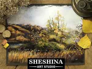 Видеоурок: рисуем осенний пейзаж сухой пастелью. Ярмарка Мастеров - ручная работа, handmade.
