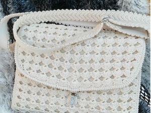 Видео. Вязаная сумочка  «Ладога». Ярмарка Мастеров - ручная работа, handmade.