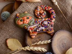 Осень. Рыжая. Уютная... Хвостатая!. Ярмарка Мастеров - ручная работа, handmade.