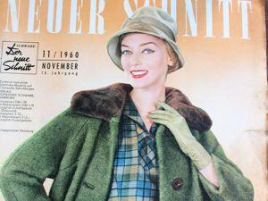 Neuer Schnitt — старый немецкий журнал мод 11/1960. Ярмарка Мастеров - ручная работа, handmade.