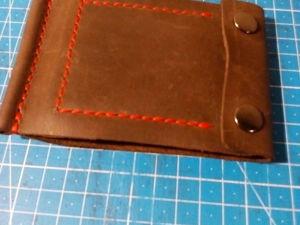 Делаем мужское компактное портмоне с зажимом для денег. Ярмарка Мастеров - ручная работа, handmade.