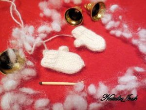 Вяжем варежки для куклы. Ярмарка Мастеров - ручная работа, handmade.