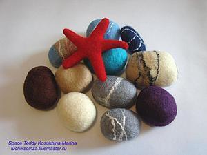 Мастер-класс: валяние камней из шерсти. Ярмарка Мастеров - ручная работа, handmade.